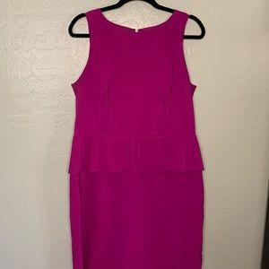 Magenta pencil dress